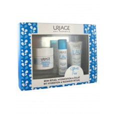 Rinkinys Uriage: Eau Thermale kaukė 50ml + Serumas 15ml + Light kremas 15ml